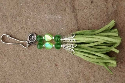 Light Green with Top Dog Charm