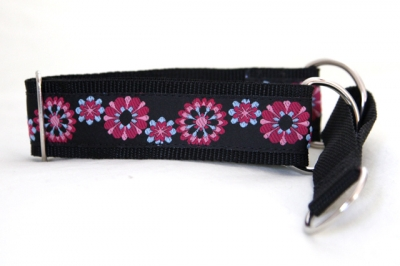 Martingale (small) - pink blue floral (D12S)