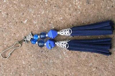 Dark Blue with Rabbit Charm