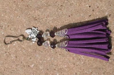 Purple with Angel Charm