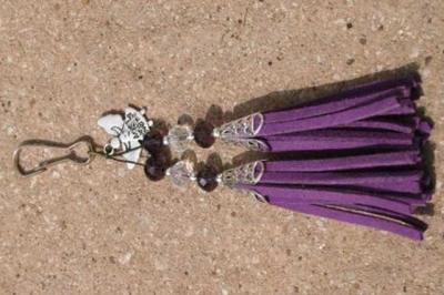 Purple with Angel Charm
