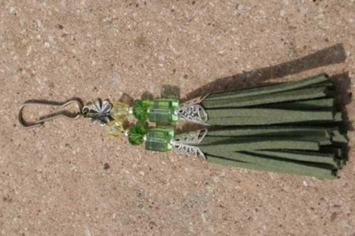Green with Shamrock Charm