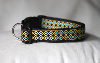 Clip Collar - Yellow Turquoise Diamond (H03)