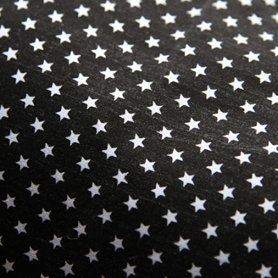 Small - Black with White Stars Bandana