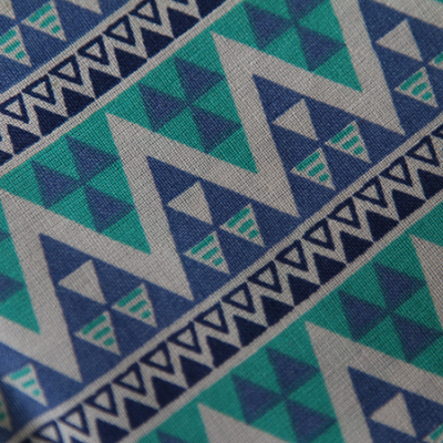 Medium - Blue/Jade Triangles Bandana