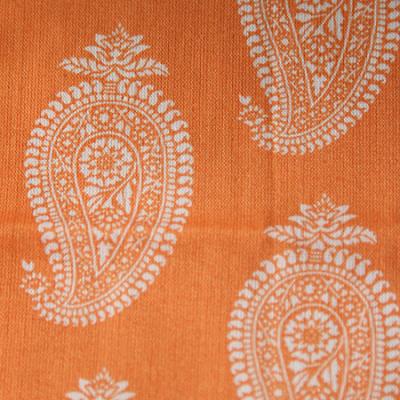 Medium - Orange Paisley Bandana