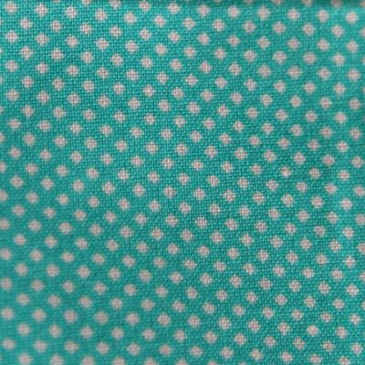 Medium - Turquoise/White Small Squares Bandana