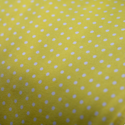 Small - Yellow with White Dots Bandana