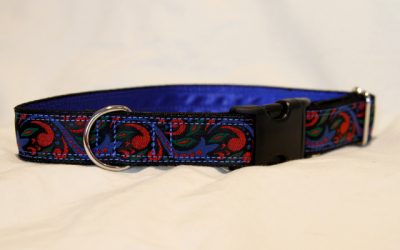 Luxury clip collar - blue, red, green (DH01)