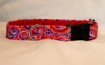 Luxury clip collar  - tropical swirl (DH14)