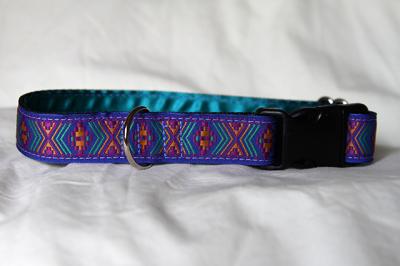 Luxury clip collar - bright geometric (DH19)
