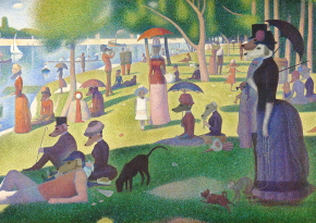 A4 print - A Dog day on La Grande Jatte