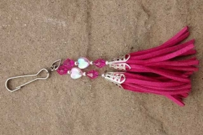 Cerise Pink with Heart Charm