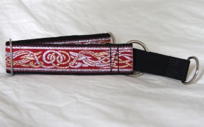 Martingale (medium) - red/silver/gold celtic dog (D18M)