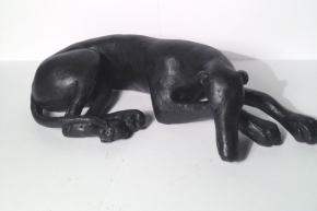 Sleeping hound figure (large)