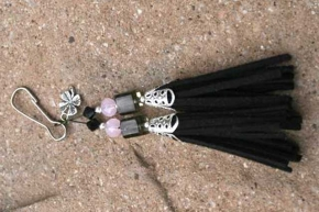 Black with Shamrock Charm