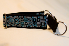 Martingale (small) -  blue/grey abstract (D38S)