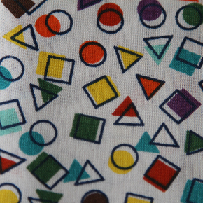 Medium - Multicolour Shapes Bandana