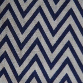 Medium - Navy ZigZag Bandana