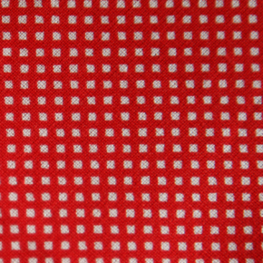Medium - Red/White Small Squares Bandana