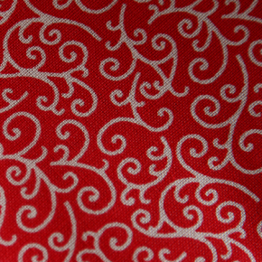 Medium - Red/White Swirl Bandana