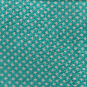 Medium - Turquoise/White Small Squares Bandana