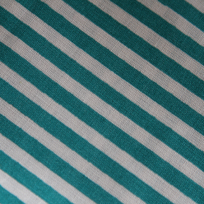 Medium - Turquoise/White Stripe Bandana
