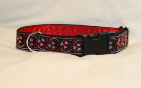 Luxury clip collar  - red clover (DH06)